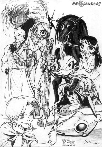 Il primo studio di gruppo con tutti i personaggi principali di PK Fantasy!