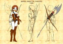 Primo model di Lidia tra PK Fantasy e Duckwing